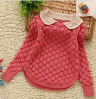 Wholesale 2 Y girls computer knitted spring autumn sweaters cm girls knitwear jersey children clothing girls coat new hight qualith beause