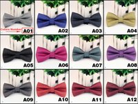 Wholesale New arrival Men s Fashion Tuxedo business solid colors Butterfly Wedding Party Bow tie Red Black White Green Bow Tie L102