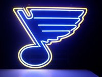 Wholesale new St Louis Blues Real Glass Neon Light Sign Home Beer Bar Pub Recreation Room Game Room Windows Garage Wall Sign