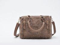 bag ladies tea - Tea color charm Plush bags Satchel Bag g