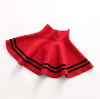 Wholesale 2016 New Autumn Girls Knitted Skirt Kids Tutu Party Casual Dress Knitting Short Skirt Princess Midskirts Children Clothing Colors