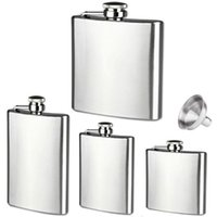Wholesale New oz Stainless Steel Hip Flask Liquor Whisky Alcohol Cap Funnel Drinkware For Drinker