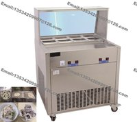 Wholesale Stainless Steel v v Electric Yogurt Fry Ice Pan Maker Fried Ice Cream Machine Ice Cream Roll Making Machine
