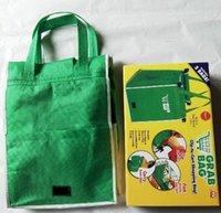 Wholesale GRAB BAG Clip to Cart Shopping Bag Supermarket Green Creative Environmental Bags New Arrival AA