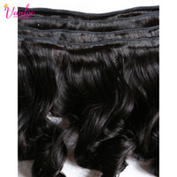 aliexpress brazilian hair - 7A Unprocessed Virgin Hair Brazilian Virgin Hair Loose Wave Aliexpress Hair Extensions Bundles ruijia Natural Black Color B