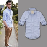 oxford shirts - New Arrived Camisetas Masculina Oxford Shirts Long Sleeve Famous Brand Slim Fit Casual Shirts Men Color