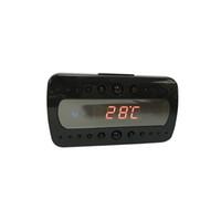 alarm with remote - Surveillance Cameras HD720P alarm clock camera black color spy camera for home security Video Recorder DVR with remote controller