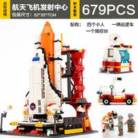 aerospace aircraft - Goodey assembled block military model toy rocket launch aircraft Aerospace toys