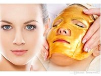 Wholesale Gold Collagen Crystal Facial Mask Skin Whitening Moisturizing Anti wrinkle Anti aging Acne Face Mask Beauty Skin Care S02