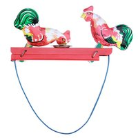 Wholesale 2015 HOT Children s Vintage Toy Tin Rooster Peck Working Condition Antique Tintoy For Kids