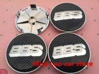 bbs - 4pcs mm Silver BBS Lattice Black car emblem Modified Wheel Center Hub Caps wheel Badge covers