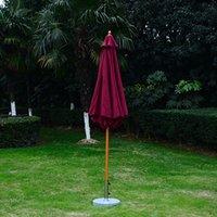 beach umbrella cover - 9ft Outdoor Sun Shade Garden Café Yard Cover Patio Wooden Market Beach Umbrella