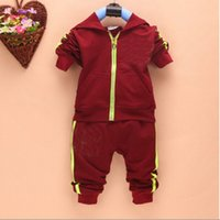Wholesale NEW Spring Autumn baby boys girls Sport suit set long sleeve hoodies sets children T shirt pants outerwear clothing set