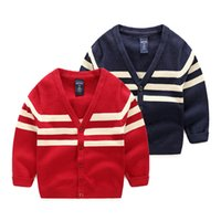 Wholesale New England Style Kids Striped Pattern Sweater Jumper For Boys Baby Sweaters Pullovers Clothing