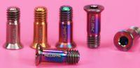 Wholesale Brand New Risk bag M5 mm Super Light Titanium Jockey Wheel Bolts Dial guide wheel screws color options