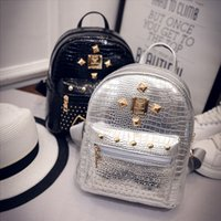 teenage fashion - 2016090918 School Bag Mini Rivets Student Backpack For Women Teenage Girl Backpack Mochila Escolar Para Las Mujeres Feminina