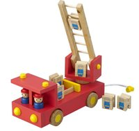 toy fire truck - Children Wooden forest fire trucks baby wooden puzzle educational toy car for kids gift