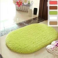 Wholesale Fluffy Anti Skid Area Rug Shaggy Absorbent Footcloth Carpet For Bedroom Bathroom Floor Door Mat Colors