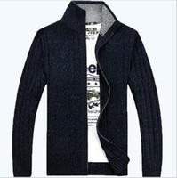 Wholesale solid colors mens sweater new casual cardigans sweaters plus size M XL