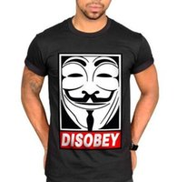 anonymous shirt - Disobey Mask T Shirt V For Vendetta Face Dope Clothing Swag Anonymous Obey