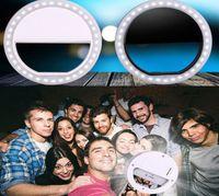 100pcs selfie anillo de LED portátil Llenar Fotografía de la cámara de luz para IPhone teléfono Android