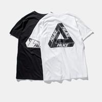 basic tshirt - palace skateboards classic triangle print mens basic summer noah clothing cotton short sleeve tshirt tee cool male t shirt
