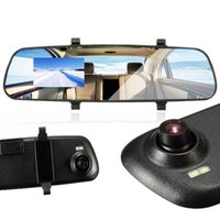 Wholesale car dvd New inch P HD LCD DVR Car Camera Dash Cam Video Recorder Rearview Mirror V A