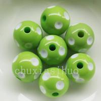 Wholesale 40PC Assorted Acrylic Polka Dot Chunky Round Bead Charm MM