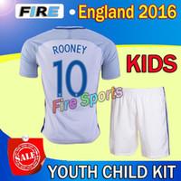 football wear - Fast Shipping England kids soccer jerseys Uniforms sets youth boys child kits LAMPARD GERRARD sport wear tops shorts football shirts
