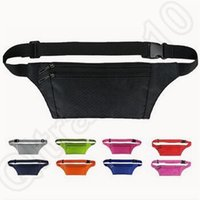 Wholesale 10 Colors Unisex Waist Bags Fanny Pack Belt Money Sport Pouch Waterproof Nylon Travel Hiking Bags Cycling Waist Bag CCA4704