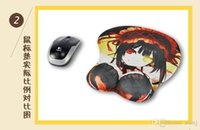 Wholesale 2016 Japanese Anime D Mouse Pad with Silicone wrist rest Soft Big Butt Breast Cosplay ping Japanese Animation BY DHL
