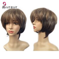 average hand temperature - ombre synthetic wigs cheap short wigs four colors mixed cosplay hair wigs for black women sexy high temperature synthetic wigs