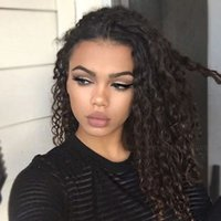 Swiss Lace big head hairstyles - indian remy curly full lace front wigs human hair inch Full Head b or natural color for black women