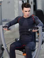 Wholesale New arrival Gym Sets For Men s Tight Clothes and high stretch sports wear long sleeve and long pants and quick dry suits