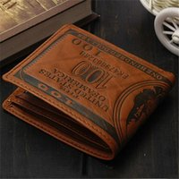 bamboo creativity - Export fashion men dollar purse wallet mix leather designer creativity card holders wallets dark and light brown color