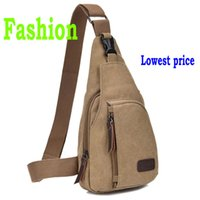 Wholesale 2016 New Canvas Unisex Chest Bags Retro Casual Zipper Breathable Shoulder Bags Fashion Sports Diagonal bags Factory