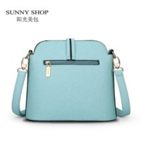 Wholesale SUNNY SHOP Spring Summer New Candy Color Fresh Small Women Shoulder Bag Fashion Shell Women Messenger Bag Sky Blue Beige Colors
