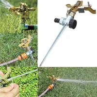 Wholesale New Arrival High quality Lawn Garden Yard Grass Metal Impulse Spike Water Watering Sprinkler Sprayer
