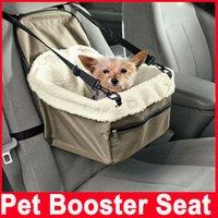 Чехлы для сидений для домашних животных Цены-Pet Собака щенок Кошка автомобиля Booster Seat Seat Перевозчик Автомобиль Автомобиль Поводок Складная собаки любимчика автомобиля перевозчика мешок Pet автомобиля крышки места