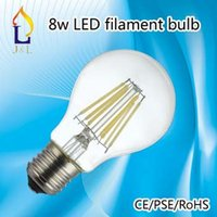 Wholesale how sale best price LED filament Light A60 candle light E27 V W W Led Bulb warm white