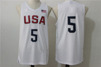 Soccer basketball apparel - Player USA Dream Team Jersey White Basketball Jerseys High Quality Men s Basketball Shirts Athletic Outdoor Apparel Hot Sale