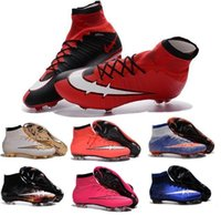 Wholesale 2016 Children Football Boots Kids Boys mens Superfly FG High Ankle Soccer Shoes Womens Girls Mercurial Superfly Soccer Cleats
