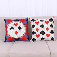 adult bedroom designs - 45cm Modern poker Design Cotton Linen Fabric Throw Pillow inch Fashion Hotal Office Bedroom Decorate Sofa Chair Cushion