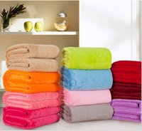 Wholesale High quality upgrade coral fleece super soft pastel pure color flannel blanket Farley wool blanket to keep warm sheet gift carpet