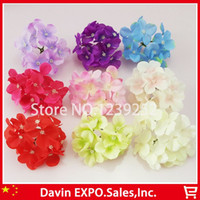 Wholesale NEW Artificial Hydrangea Silk Flowers Heads Decoration for Wedding Party Banquet Home Decorative Flowers