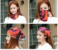 Wholesale Fashion Multifunctional scarf Outdoor The newest style kerchief hood scarf SPF10 Sunscreen
