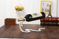 Wholesale magic rope wine bottle stand magic chain wine bottle holder suspended wine rack red wine rack