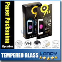 Wholesale Tempered Glass screen protectors for iphone S plus iphone SE Premium Real Film Screen Protector for Samsung Note galaxy S7 paper package