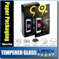 Wholesale Tempered Glass screen protectors for iphone7 plus s note7 Premium Real Film Screen Protector with paper package
