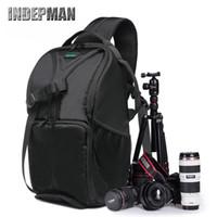 backpack internal - new outdoor professional waterproof camera bag large space SLR camera bag single shoulder Backpack